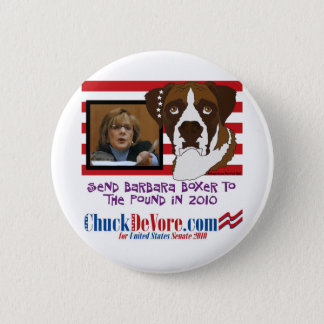 Send Barbara Boxer to the Pound in 2010 2 Inch Round Button