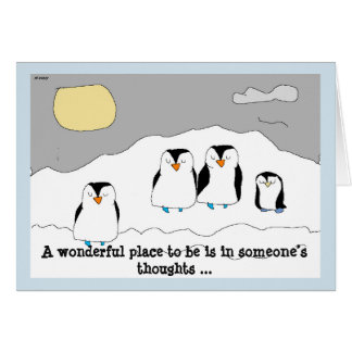 Send Drawling's penguins to brighten the day! Card