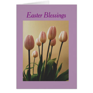 Send Easter Blessings With Tulips Card