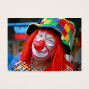 Clown business cards business card printing zazzle ca send in the clown business card colourmoves