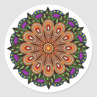 send it plant classic round sticker