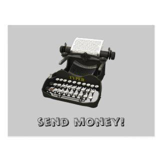 Send money! Postcard
