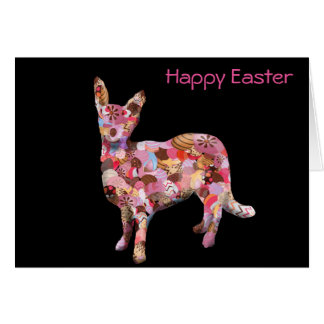 Send this Easter card...dog with Easter eggs Card