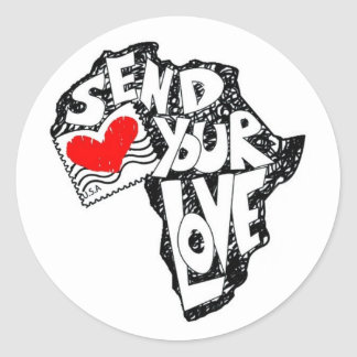 Send Your Love Classic Round Sticker