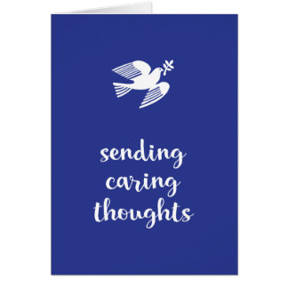 Sending caring thoughts Sympathy Card