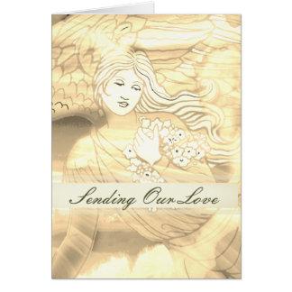 Sending Love Sympathy Angel Card