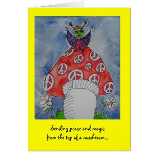 Sending peace and magic card