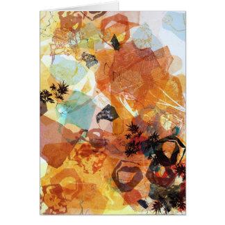 Sending Receiving Abstract Art Card