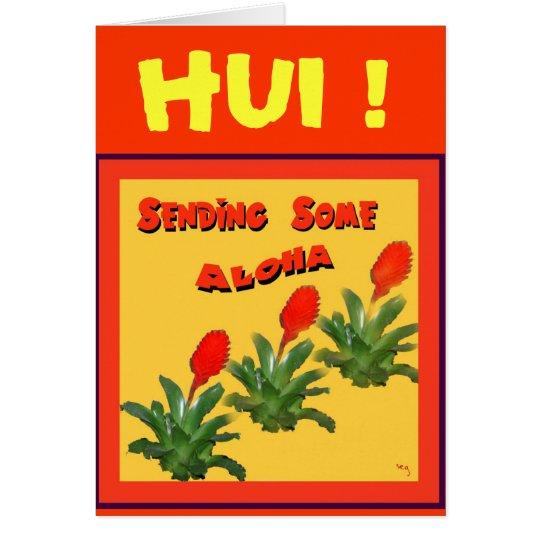 SENDING SOME ALOHA Card