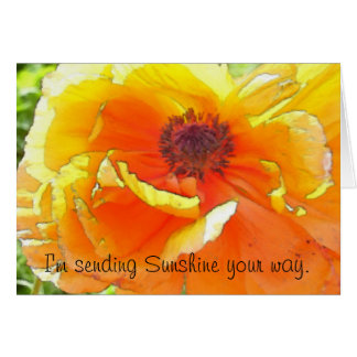 Sending Sunshine your way. Card
