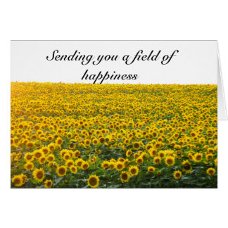 Sending you a field of happiness card