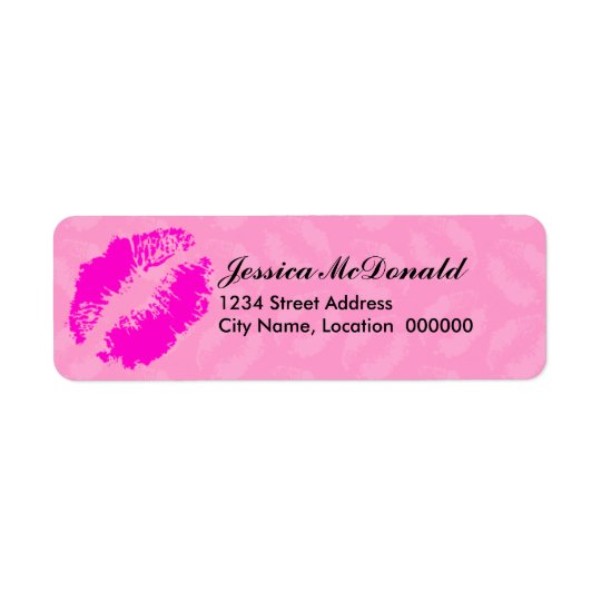 Sending You Kisses Return Address Label