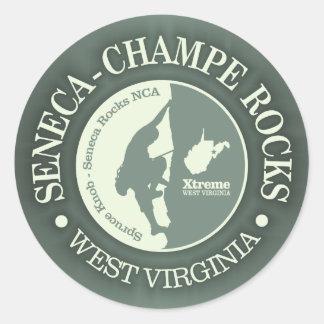Seneca & Champe Rocks (Climbing) Classic Round Sticker