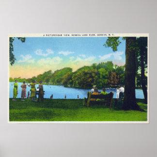 Seneca Lake Park Scene Poster