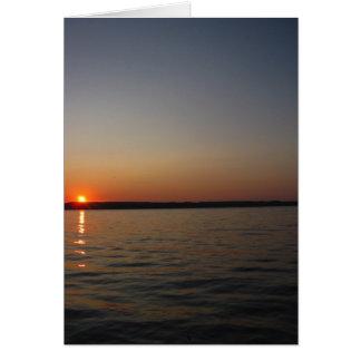 Seneca Lake Sunset Note Card