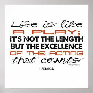 Seneca Quote on Acting Poster