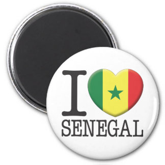 Senegal 2 Inch Round Magnet