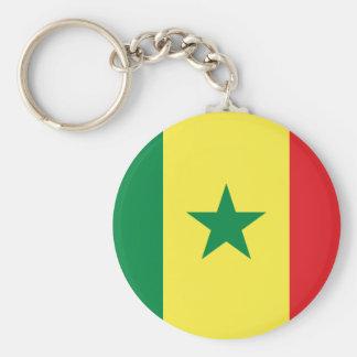 Senegal Basic Round Button Keychain