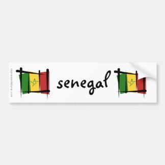 Senegal Brush Flag Bumper Sticker