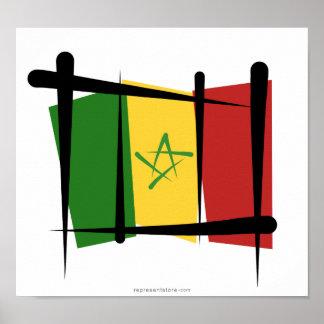 Senegal Brush Flag Print