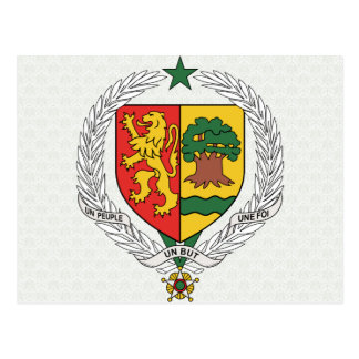 Senegal Coat of Arms detail Postcard