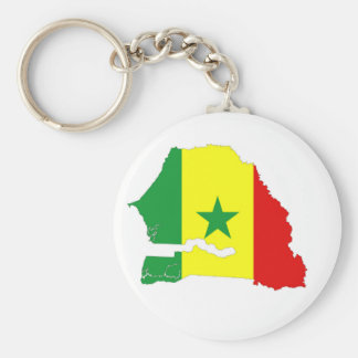 senegal country flag map shape silhouette keychain