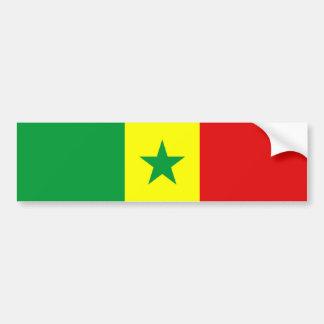 senegal country flag nation symbol bumper sticker