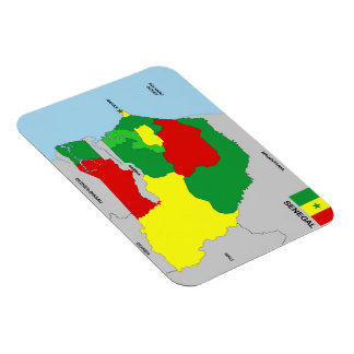 senegal country map flag magnet