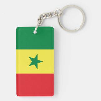Senegal Double-Sided Rectangular Acrylic Keychain