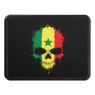 Senegal Dripping Splatter Skull Tow Hitch Cover
