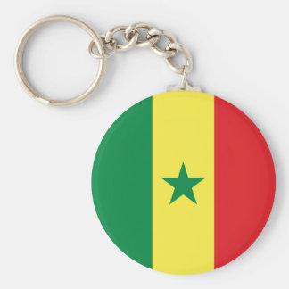 Senegal Flag Basic Round Button Keychain