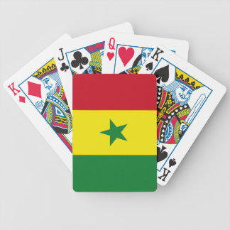 Senegal flag bicycle playing cards