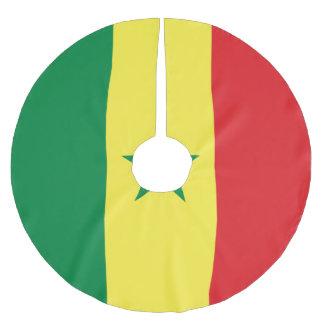 Senegal Flag Brushed Polyester Tree Skirt