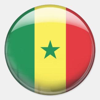 Senegal Flag Classic Round Sticker