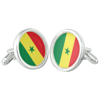 Senegal Flag Cufflinks