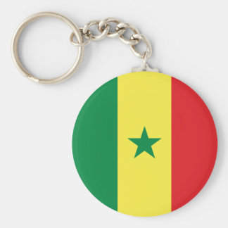 Senegal Flag Keychain