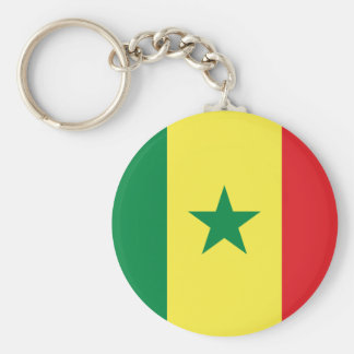 Senegal Flag Keychain