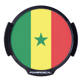 Senegal Flag LED Auto Decal