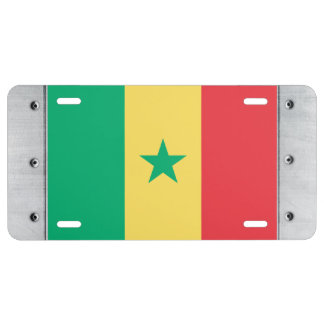 Senegal Flag License Plate
