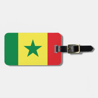 Senegal Flag Luggage Tag