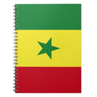 Senegal flag note book