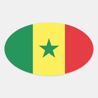Senegal Flag Oval Sticker