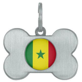 Senegal flag pet ID tag