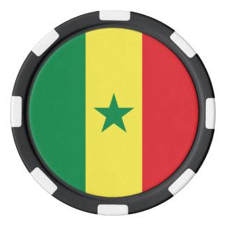 Senegal Flag Poker Chips