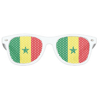 Senegal Flag Retro Sunglasses