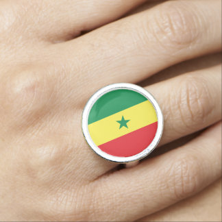 Senegal Flag Ring