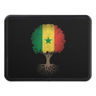 Senegal Flag Tree of Life Customizable Tow Hitch Cover