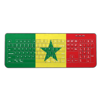 Senegal Flag Wireless Keyboard