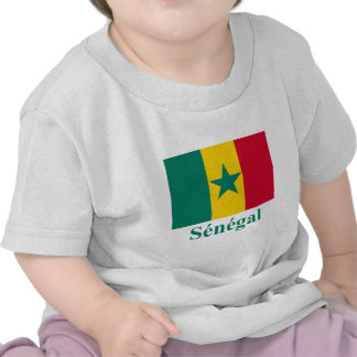 Senegal Flag with Name in French Tshirts