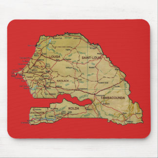 Senegal Map Mousepad